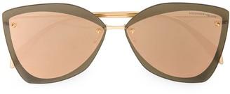 Alexander Mcqueen Eyewear Oversized Tinted Sunglasses