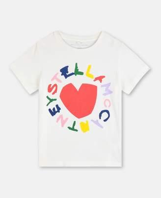 Stella McCartney logo & heart cotton t-shirt