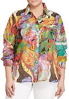 Lauren Ralph Lauren Plus Cotton-Silk Voile Shirt