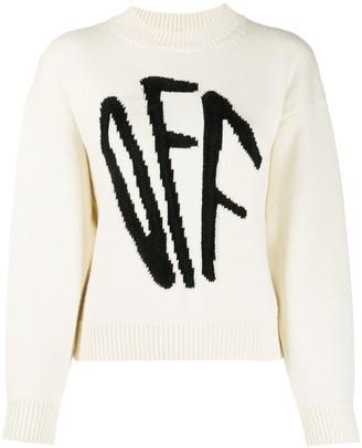 Off-White Graffiti crew-neck jumper