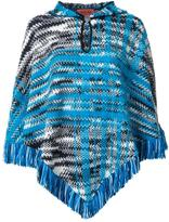 Missoni fringed poncho - women - Nylon/Mohair/Wool - M