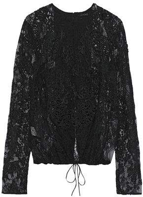 Tom Ford Open-back Appliqued Corded Lace Top