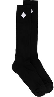 Marcelo Burlon County of Milan Intarsia-Knit Logo-Detail Socks