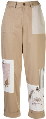Monse Patchwork Cropped Trousers