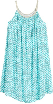 Nina Leonard Braided Strap Shift Dress