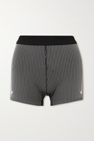 Thumbnail for your product : Nike Aeroswift Striped Ribbed Dri-fit Shorts