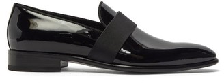 Santoni Moore Patent-leather Loafers - Black