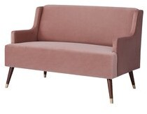 Everly Quinn Wyant Velvet 51.18'' Recessed Arm Settee Upholstery Color: Pink