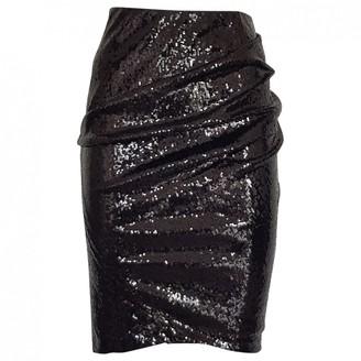 Donna Karan Black Glitter Skirt for Women