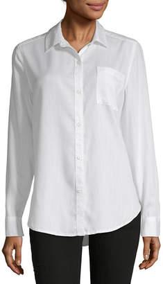 Liz Claiborne Simply-Womens Long Sleeve T-Shirt