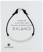 "Dogeared Balance"" Sterling Silver Black Bracelet"