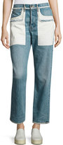 Helmut Lang Inside-Out Oversized Boyfriend Jeans, Light Blue