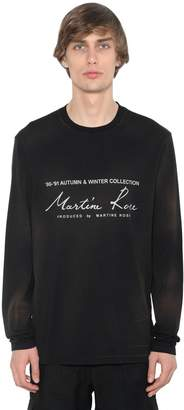 Martine Rose LOGO PRINT COTTON JERSEY LS T-SHIRT