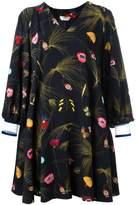 Fendi off-shoulder floral dress