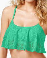 Kenneth Cole Reaction Cropped Crochet Popover Bikini Top
