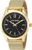 Steve Madden Men's Dial Mesh Band Watch Watch