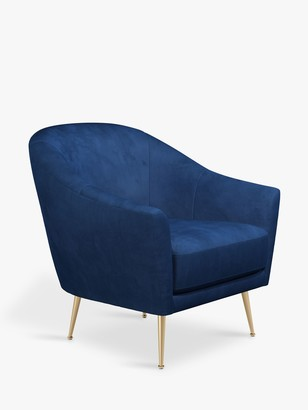 John Lewis & Partners Ellipse Armchair, Gold Leg