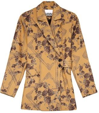 Ganni Brocade Floral Blazer