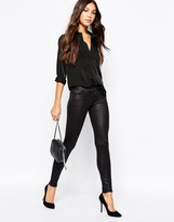 7 For All Mankind Leather Look Skinny Pant