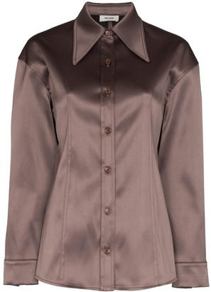 we11done Exaggerated Collar Button-Down Shirt