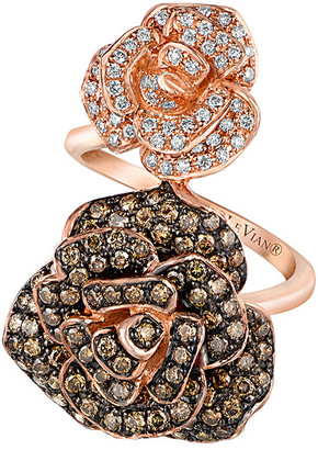 LeVian Le Vian 14K Rose Gold 1.72 Ct. Tw. Diamond Floral Rose Ring