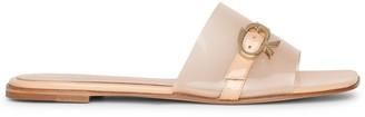 Gianvito Rossi Gemini flat patent leather sandals