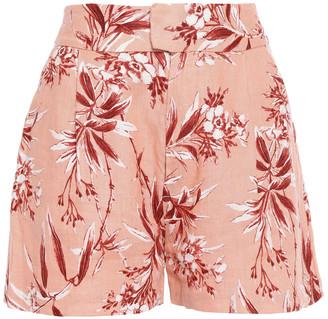 Joie Farron Floral-print Linen Shorts