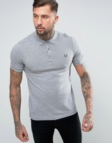 Fred Perry Slim Pique Polo Shirt in Gray Marl