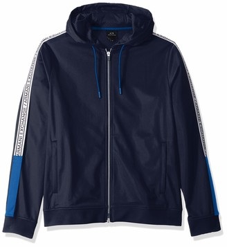A|X Armani Exchange Men's Polyester Zip-up Sweatshirt