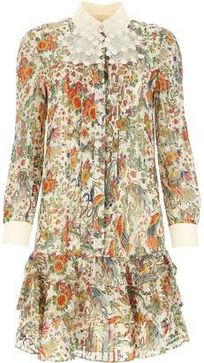 Tory Burch Ruffled Shirt Dress