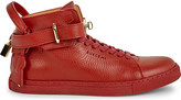 Buscemi Gold clasp mid-top leather trainers