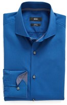 BOSS Men's Slim Fit Easy Iron Solid Dress Shirt