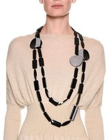 Giorgio Armani Chunky Beaded Necklace, Black