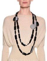 Giorgio Armani Chunky Beaded Strand Necklace, Black