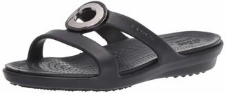 Crocs Women's Sanrah MetalBlock Sandal Slide