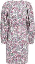 Vanessa Bruno Belted Floral-print Cotton-poplin Mini Dress