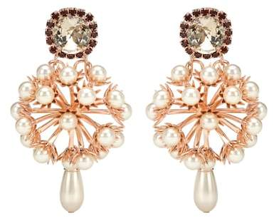 Erdem Cluster drop earrings
