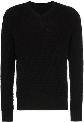 Sunflower Blond V-neck knitted jumper