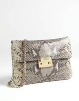 MICHAEL MICHAEL KORS Sloan Python-Embossed Leather Clutch