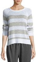 Eileen Fisher Organic Linen-Cotton Slub Striped Sweater