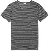 Schiesser Helmut Striped Slub Linen-Jersey T-Shirt