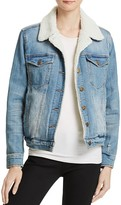 Pistola River Faux Shearling Denim Jacket