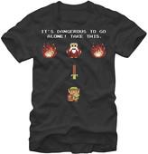 Fifth Sun Men's Tee Shirts BLACK - Legend of Zelda Black & White 'Take This' Tee - Men