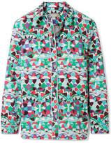 Emilio Pucci Printed Cotton-poplin Shirt