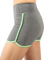 Neonysweets Womens Workout Shorts Running Yoga Short Pants 2 Pack Black M