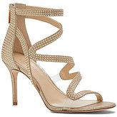 Vince Camuto Imagine Prest Shimmer Gold Pin Dot Dress Sandals