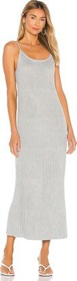 John & Jenn by Line Shimmed Ribbed Midi Dress