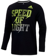 adidas Boys' Speed of Light Long-Sleeve Tee - Little Kid