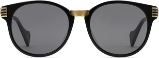 Gucci Specialized fit round sunglasses
