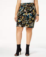 INC International Concepts Anna Sui Loves Plus Size Printed Skirt, Created for Macy's